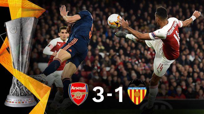 El Arsenal castiga al Valencia y le obliga a una remontada en Mestalla