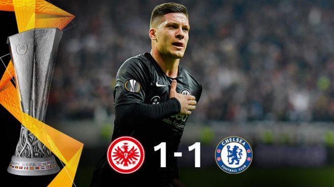 El Chelsea llega con ventaja a Londres pese al golazo de Jovic