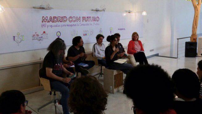 Isabel Serra presentado su programa electoral. (Foto. Podemos)