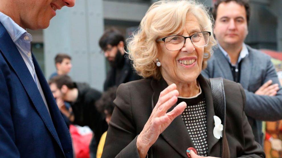 La alcaldesa de Madrid, Manuela Carmena, en las celebraciones por el Dos de Mayo. Foto: Europa Press