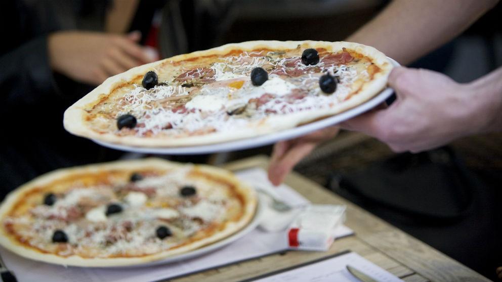 Pizza con aceitunas negras (Foto: iStock)