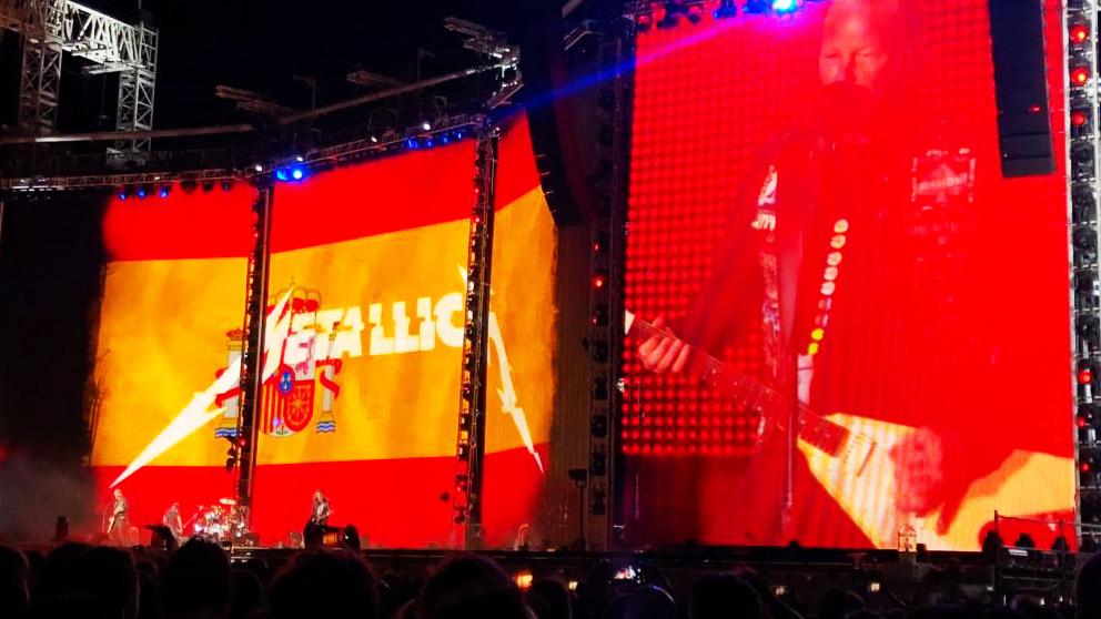 Concierto de Metallica en Madrid (Foto: Twitter @iko_rueda)