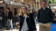 Elsa Artadi este sábado en el barrio de Sarrià.