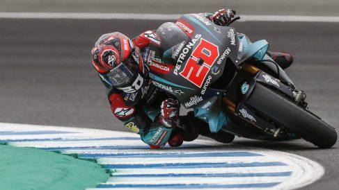 Quartararo, durante el GP de España en Jerez. (EFE)