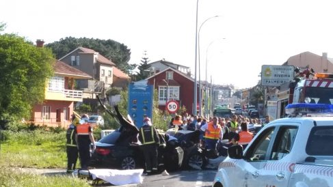Imagen del accidente de tráfico.