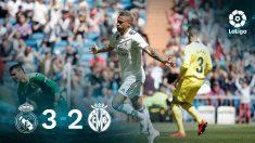El Real Madrid ganó 3-1 al Villarreal con doblete de Mariano.