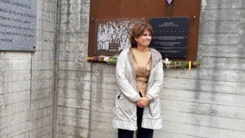 Dolores Delgado en Mauthausen (Foto:EFE).