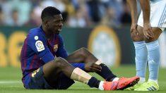 Dembélé se lesionó en el partido contra el Celta. (AFP)