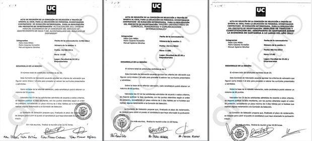 Los contratos con firmas falsas de la Universidad de Cantabria