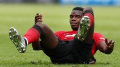 Pogba durante el partido del Manchester United ante el Huddersfield. (Getty)