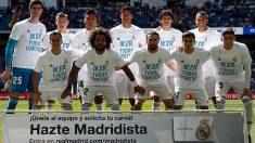 La alineación del Real Madrid contra el Villarreal.