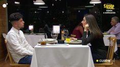 Anna y Abraham han hablado mucho de Huelva en 'First Dates'