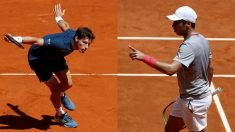 Carreño y Munar, en sus partidos en el Mutua Madrid Open. (EFE)