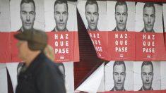 Carteles electorales del PSOE. Foto: Europa Press