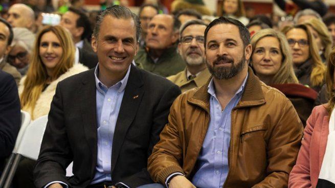 Los dirigentes de Vox Javier Ortega Smith y Santiago Abascal. (Foto. Vox)
