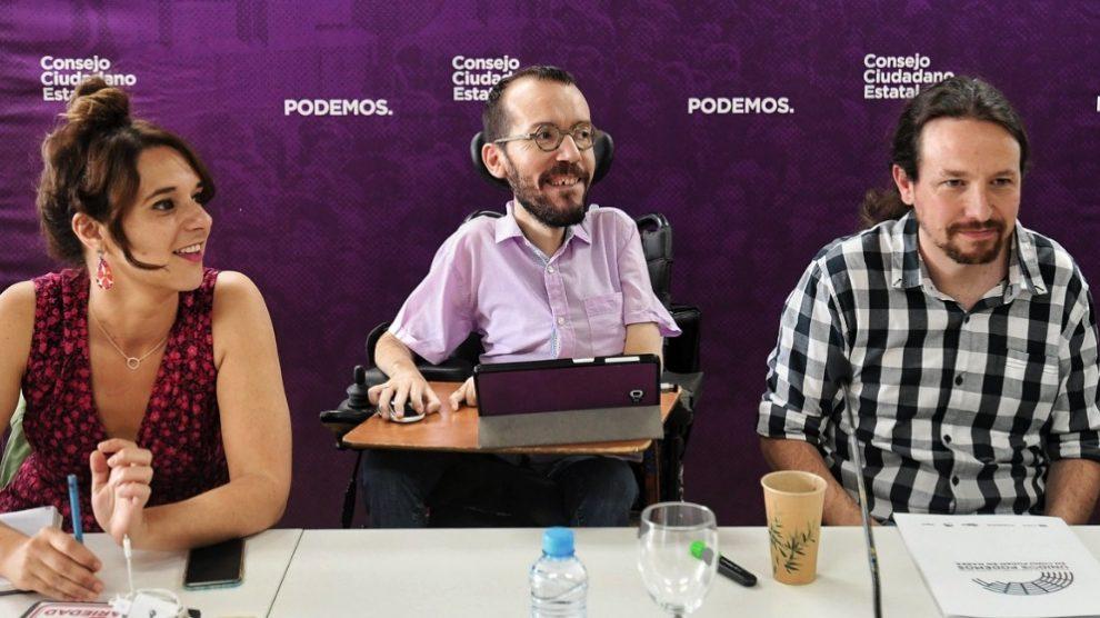 Pablo Echenique en el Consejo Estatal. (Foto. Podemos)
