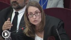 La abogada Marina Roig durante el juicio al procés en el Tribunal Supremo