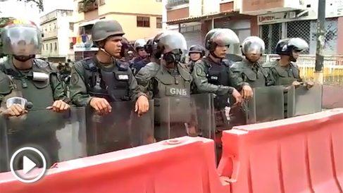 Agentes de la Policía Nacional Bolivariana.