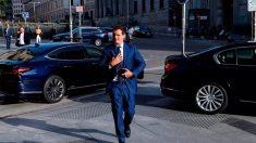 El presidente de Ciudadanos, Albert Rivera, a su llegada al desayuno informativo organizado por Nueva Economía Fórum, en el que ha presentado a la candidata del partido al Ayuntamiento de Madrid, Begoña Villacís, este martes en Madrid. Foto: EFE