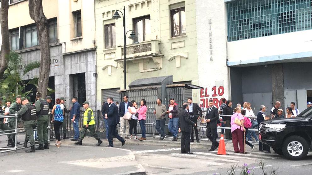Los alrededores de la Asamblea Nacional de Venezuela