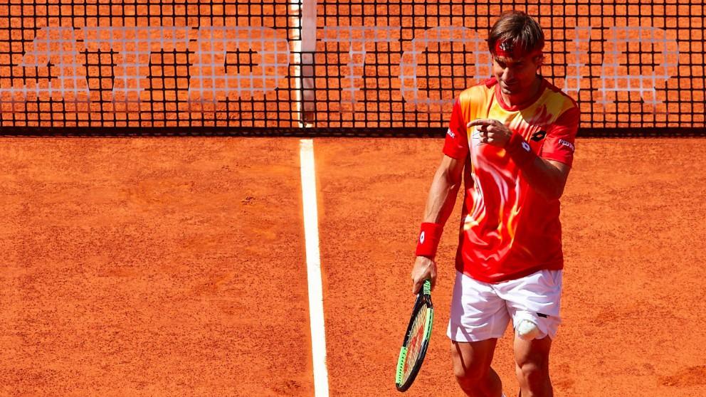 David Ferrer, en el partido frente a Bautista en el Mutua Madrid Open. (Mutua Madrid Open)