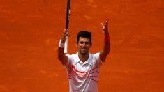 Djokovic celebra su victoria ante Fritz. (Getty)