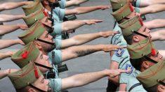 Militares españoles desfilando.