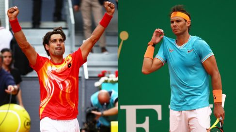 David Ferrer y Rafael Nadal en el Mutua Madrid Open.