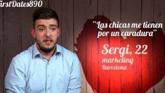 Sergi contó su última historia de amor en 'First Dates'