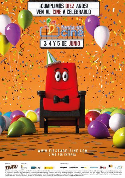 La Fiesta del Cine regresará los días 3, 4 y 5 de junio de 2019.