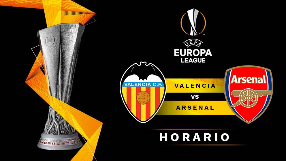 Europa League: Valencia – Arsenal   Horario del partido de fútbol de Europa League.