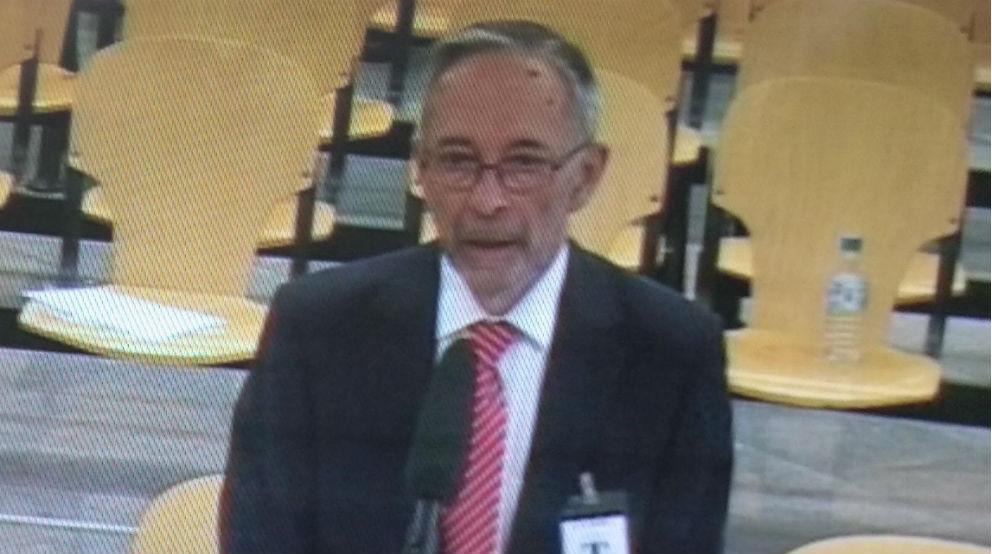 Julio Segura, presidente de CNMV cuando Bankia salió a bolsa, este martes en el juicio en la Audiencia Nacional
