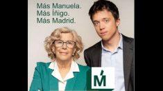 Cartel de Manuela Carmena e Íñigo Errejón.
