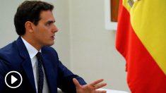 Rivera en Moncloa. Foto: EFE