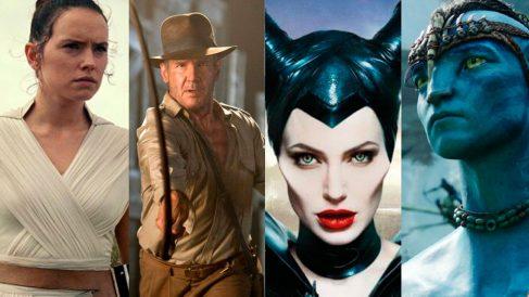 Cuatro de los personajes que se esperan en las próximas producciones de Disney.