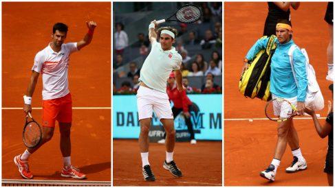 Djokovic, Federer y Nadal. (Getty)