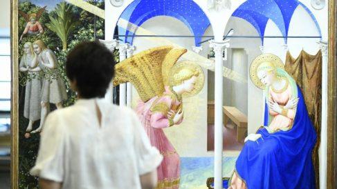 La anunciación de Fra Angelico recién restaurada por el Museo del Prado. @ Europa Press