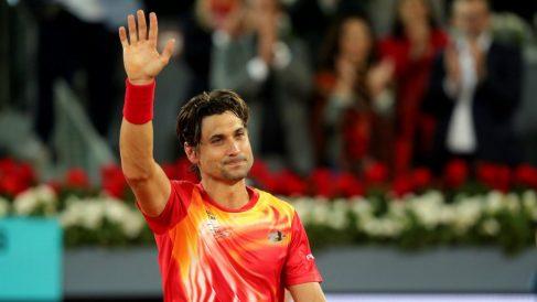 Ferrer se despide del público tras su derrota con Zverev. (EFE)