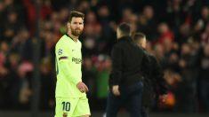 Messi, tras ser eliminado en Liverpool. (AFP)
