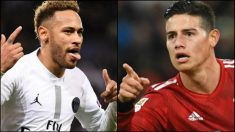 Neymar podría jugar en el Real Madrid si James ficha por el PSG.