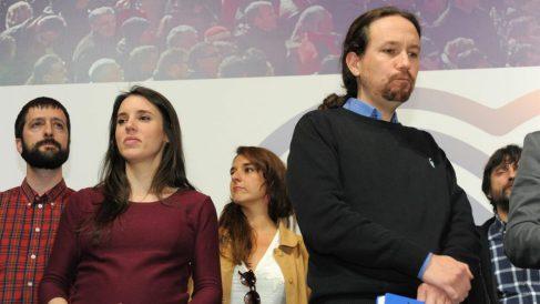 Pablo iglesias e Irene Montero, dirigentes de Podemos. @ Europa Press
