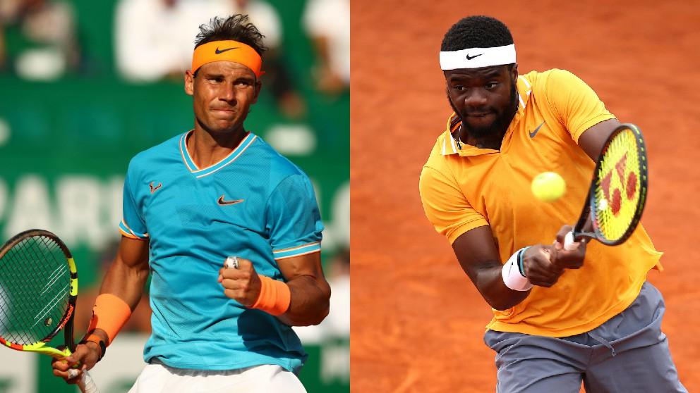 Rafael Nadal y Frances Tiafoe. (Getty)
