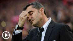 Valverde se lamenta tras la derrota en Anfield. (Getty)
