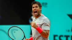 Verdasco celebra un punto. (Mutua Madrid Open)