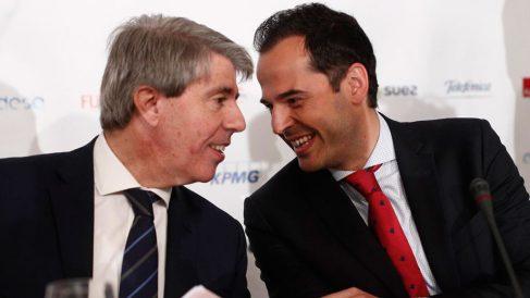 Ángel Garrido e Ignacio Aguado en un desayuno organizado por Europa Press. Foto: EP