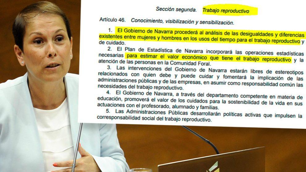 Uxue Barkos, presidenta de la Comunidad Foral de Navarra
