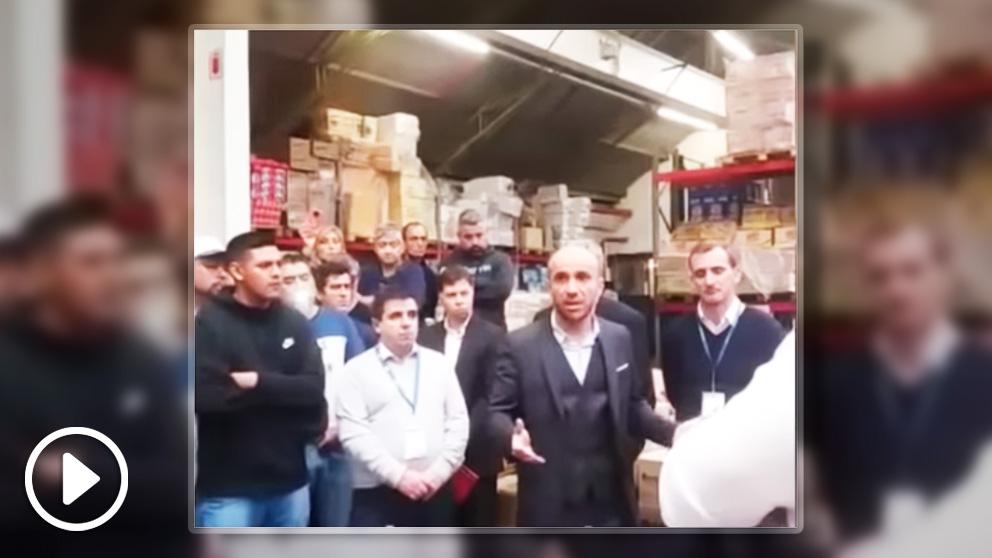 Frame del vídeo del nuevo director general de Carrefour en España
