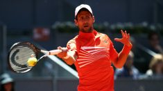 Novak Djokovic golpea una derecha. (Getty)