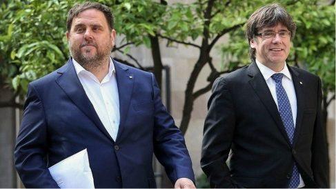 Oriol Junqueras y Carles Puigdemont. Foto: Europa Press