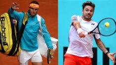 Rafael Nadal y Stanislas Wawrinka. (Getty)